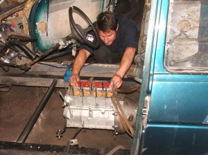 ensuring engine is level