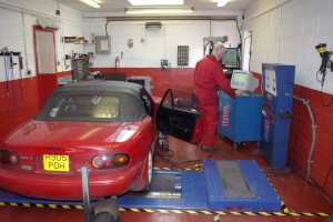 The MX5 has it's performance gains measured at Aldon Automotives rolling road